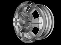 ensemblehjul för modell 3d stock illustrationer