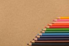 Ensembles colorés de crayon Image libre de droits