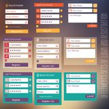Ensembles d'éléments d'interface utilisateurs de login et Photos libres de droits