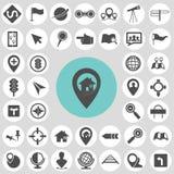 Ensembles d'icône de carte Image stock