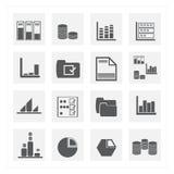 ensembles d'icône de données Images libres de droits