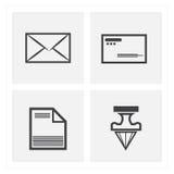 ensembles d'icône de lettre Image libre de droits
