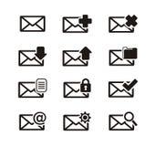 Ensembles d'icône de transmission de messages illustration libre de droits