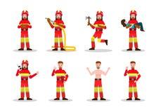 Ensembles de lutte contre l'incendie illustration stock