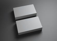 2 ensembles de namecards a horizontal Photo libre de droits