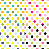 Ensembles de points de polka Image stock