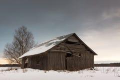 Ensembles de Sun sur les champs d'hiver Photos libres de droits