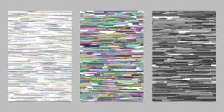 Ensembles horizontaux abstraits de calibre de page de fond de rayure Image libre de droits