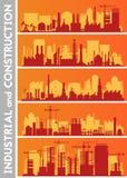Ensembles industriels d'horizon de ville Images libres de droits