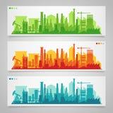 Ensembles industriels d'horizon de ville Photos libres de droits