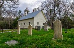 Ensenada Baptist Church primitivo, Great Smoky Mountains de Cades imagen de archivo libre de regalías