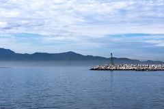 Ensenada breakwater Stock Photography