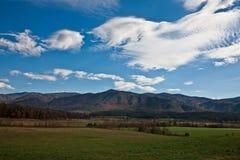 Ensenada de Cades - montañas ahumadas Foto de archivo libre de regalías