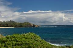 Ensenada de la playa en Kauai Fotos de archivo