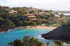 Ensenada de la playa Ferradurinha en Buzios cerca de Rio de Janeiro, el Brasil Imagen de archivo