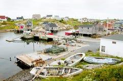 Ensenada de Peggys - Nova Scotia - Canadá fotos de archivo libres de regalías