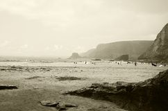 Ensenada de Trevaunance, St Agnes Cornwall Imagenes de archivo