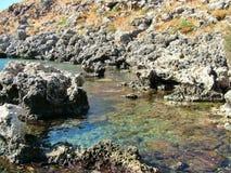 Ensenada en la isla de Rodas en Grecia Fotos de archivo libres de regalías