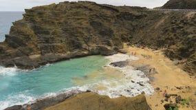 Ensenada hawaiana de la turquesa Imagen de archivo libre de regalías