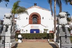 Historic Hotel-Casino Playa Ensenada/Riviera Cultural Center. ENSENADA, MEXICO - OCTOBER 22, 2018: View of the historic former Hotel-Casino Playa Ensenada, which stock photography