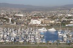 Ensenada Port in Mexico - Aerial view Royalty Free Stock Photos