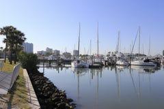 Ensenada Sarasota céntrico del barco Foto de archivo