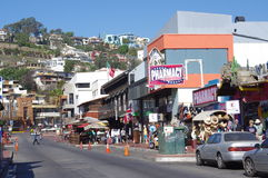 Ensenada's street  La Calle Primera Royalty Free Stock Photos