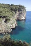 Ensenado DE Moral Cliffs, Austurias Stock Afbeeldingen