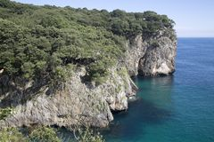 Ensenado de Moral Cliffs, Austurias. Spain Stock Image