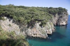Ensenado de Moral Cliffs, Austurias. Spain Royalty Free Stock Photography