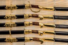Ensheathed sabres Stock Images