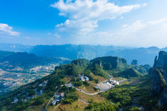 Enshi Grand Canyon landscapes. Landscape of Enshi grand canyon, It is located in enshi city, hubei province, china, 5A scenic spots Royalty Free Stock Images