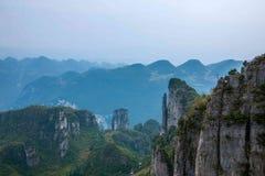 Enshi Uroczystego jaru góry krajobrazy Zdjęcia Stock