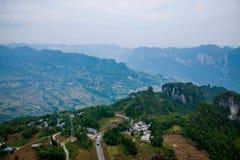 Enshi Uroczystego jaru krajobrazy Fotografia Stock