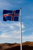 Ensign de Islândia Foto de Stock Royalty Free