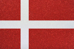 Ensign denmark. The ensign of denmark made of twinkling glittermaterial Stock Photography