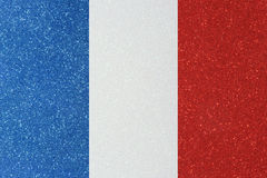 Ensign france. The ensign of france made of twinkling glittermaterial stock photo