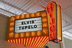Ensign and movie title about Elvis. Stock Images