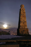 Ensign peak monument utah. The moon rises on ensign peak monument in salt lake city utah Stock Photography