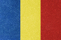 Ensign romania. The ensign of romania made of twinkling glittermaterial Royalty Free Stock Images