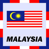 Ensigns, flag and coat of arm of Malaysia Royalty Free Stock Image