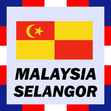 Ensigns, flag and coat of arm of Malaysia - Selangor Stock Photo