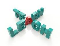 Ensine aprendem palavras cruzadas Foto de Stock Royalty Free
