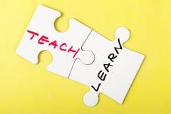 Ensine e aprenda Imagens de Stock