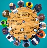 Ensine o treinador Training Concept da educação da habilidade Fotos de Stock Royalty Free