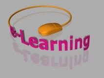 Ensino electrónico - 3D ilustração stock