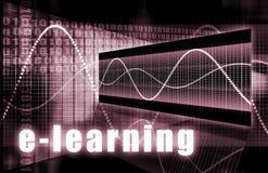 Ensino electrónico ilustração stock