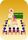 Ensino electrónico da escola Imagens de Stock
