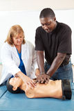 Ensino para adultos - CPR de ensino Fotografia de Stock