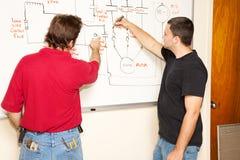 Ensino para adultos - engenharia Fotografia de Stock Royalty Free